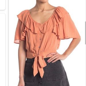 "FREE PEOPLE NWT ""Rosemary"" top. adorable crop top"